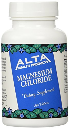 Alta Health Alta health Magnesium Chloride 100 (Pack of 2), 100 Count (Magnesium Chloride Tablets)