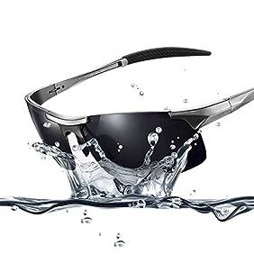 Duco Men's Sports Style Polarized Sunglasses Driver Glasses Unbreakable Frame 8177S