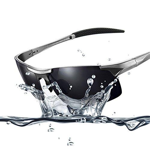 Duco Men's Sports Style Polarized Sunglasses Driver Glasses 8177S (Gunmetal Frame,Gray Lens)>