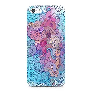 Loud Universe Pretty Cloud Pattern Durable Sleek Wrap Around iPhone SE Case - Multi Color