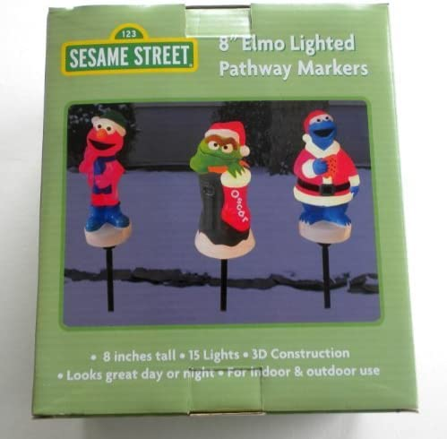 NEW IN BOX SESAME STREET ELMO CHRISTMAS LIGHT SET INDOOR//OUTDOOR KURT S ADLER