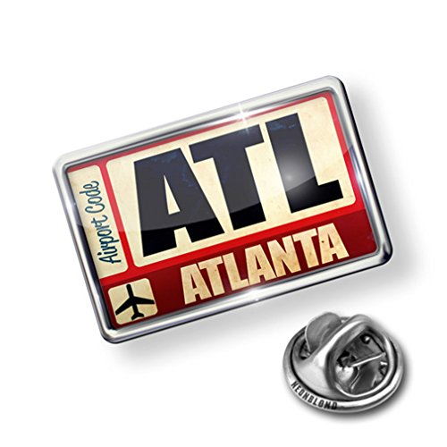 Atlanta Pin (Pin Airportcode ATL Atlanta - Lapel Badge - NEONBLOND)