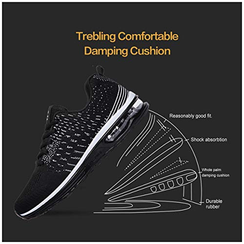 newest cb8c8 bfd51 Running Sneakers Fitness Gym Femme Chaussures Course Mode Basket Hommes  Tqgold® Sports Noir De YPq4cpw