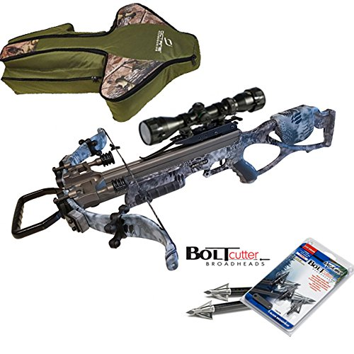 Excalibur Micro Raid 335 Kryptek Camo Crossbow Package with UPGRADED Twilight DLX Scope with Scope & Case
