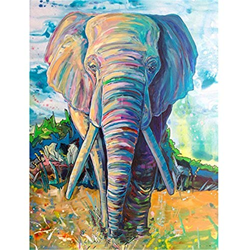 YUMEART Needlework Diamond Drawing Painting by Number Elephant Animals Diamond Dotz Animated Cross Stitch Painting Rhinestones -