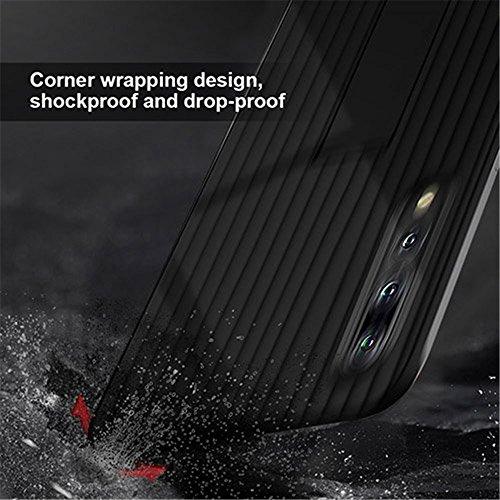 per Magnetico PC Auto per Integrato Supporto Nero Custodia P20 Copertura P20 Huawei Pro Pro per TPU Silicone Cavalletto Huawei qxztP8
