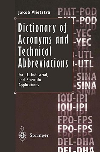 Dictionary of Acronyms and Technical Abbreviations for IT, Industrial, and Scientific Applications by Springer