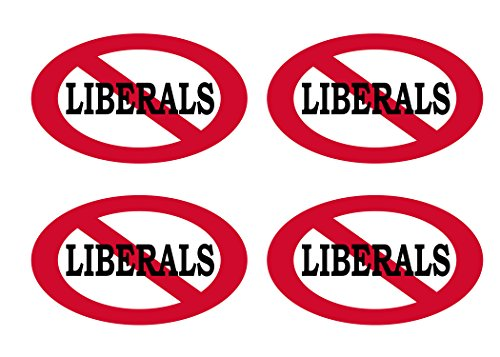 No Liberals Allowed Sticker Bumper Sticker Oval 5