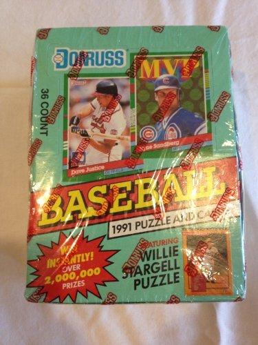 [1991 Donruss Series 2 Baseball Wax Box] (1991 Donruss Baseball)