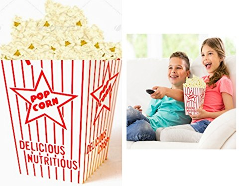 Family Movie Night Popcorn Bags, Popcorn Favor Boxes Transform Your Home Into Your Personal Movie Theater! 100/case 44E Open Top Popcorn Boxes Fit 2 to 2.5 cups (16 – 20 oz) Per (Home Made Mouse Costume)