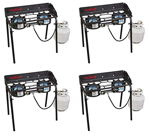 Camp Chef EX60LW Explorer 2 Burner Outdoor Camping Modular Cooking Stove (Pack of 4)