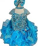 Jenniferwu Infant Toddler Baby Newborn Little Girl's Pageant Party Birthday Dress G013 Blue Size 2T