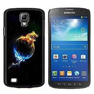 TECHCASE---Cubierta de la caja de protección para la piel dura ** Samsung Galaxy S4 Active i9295 ** --Planta de In Flames y hielo