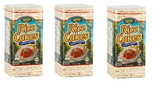 (Landau Thin Rice Cakes 4.6 Oz (Pack of 3) (Salted))