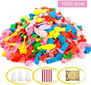 1000 pcs Water Balloons Set Party Fight Game, Instant Self Sealing Water Bomb Toys Rapid Refill, Swimming Pool