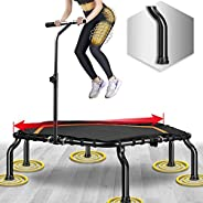 """50"""" Mini Fitness Trampoline Max. Load 250lbs Safe Silent Easy Installation Indoor Exercise Foldable Tramp"""
