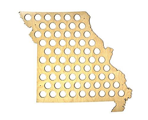 All 50 States Beer Cap Map - Missouri Beer Cap Map MO - Glossy Wood - Skyline Workshop (Missouri Bottle)