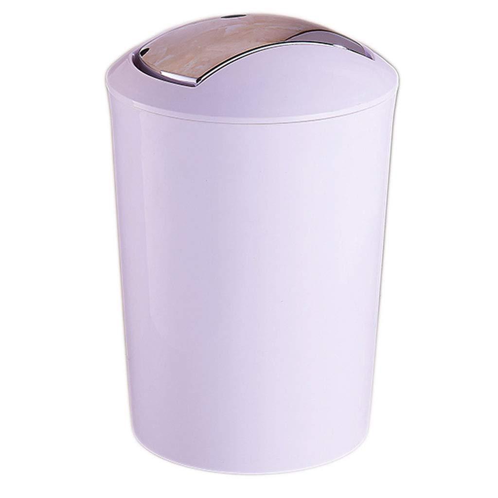 FAMILI DA Mülleimer aus Kunststoff rund Zuhause schütteln Abfalleimer Wohnzimmer Schlafzimmer Küche Büro Mülleimer 10 l (Farbe  Rot) Hellblau B07P8YDHTB | Angenehmes Gefühl
