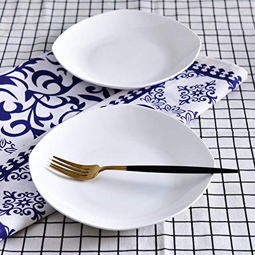 Yetta KITCHEN 2 / PCS Placa de porcelana para el hogar Placa de cerámica de 8 pulgadas Juego de placas de plato creativo