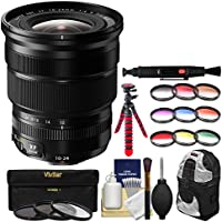 Fujifilm 10-24mm f/4.0 XF R OIS Zoom Lens with 3 UV/CPL/ND8 & 9 Colored Filters + Sling Backpack + Flex Tripod + Kit