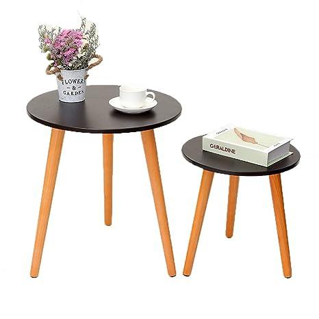 Amazon.com: IWELL - Mesa de centro para salón, mesa auxiliar ...