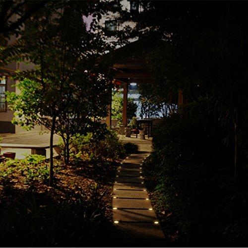 10er LED mini Bodeneinbaustrahler Set marsboy IP67 Wasserdicht Bodeneinbauleuchte Strahler Aussen Einbauleuchte Set Best Weihnachtsgeschenk Warmwei/ß.