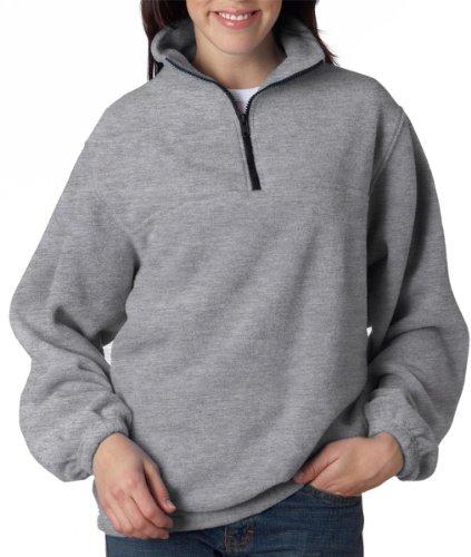 8480 UltraClub Adult UltraClub® Iceberg Fleece 1/4-Zip Pullover (Grey) (3XL)