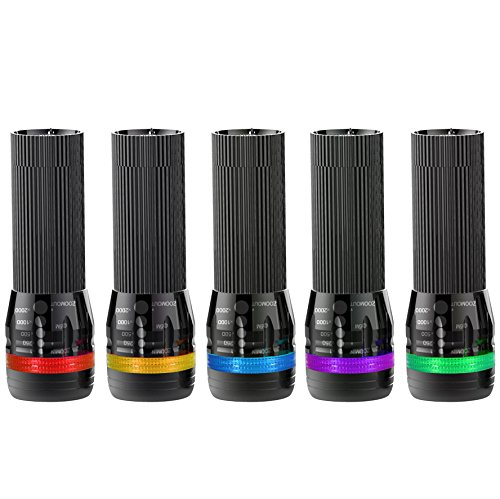 Pack of 4 Small mini LED Torches BYBLIGHT Super Bright 100lumen