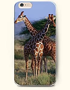 OOFIT Apple iPhone 6 Case 4.7 Inches - Two Giraffes