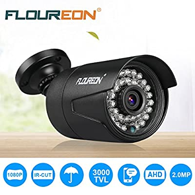 FLOUREON 8CH Security Surveillance DVR System + 4 Pack CCTV Camera from floureon