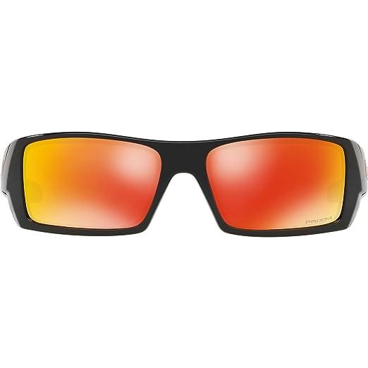 Oakley Herren Sonnenbrille Gascan 901444, Schwarz (Polished Black/Prizmruby), 60