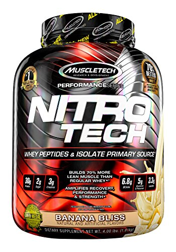 MuscleTech NitroTech Whey Protein Powder, Whey Isolate an...