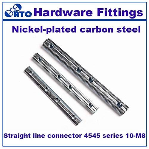 Ochoos Standard 50pcs/lot Straight line Connector 4545 series10-M8 Nickel-Plated Carbon Steel Wholesale by Ochoos
