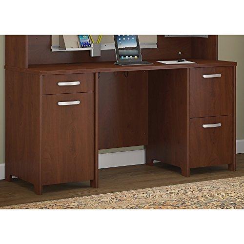 Bush Furniture PR76560K Envoy 58W Office Desk with 2 Pedestals, Hansen Cherry by Bush Furniture
