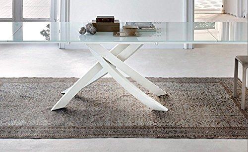 Bontempi tavolo artistico allungabile a in cristallo