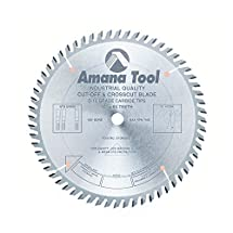 Amana Tool 610600 Cut-Off and Crosscut 10-Inch x 60 Tooth ATB 5/8-Inch  Bore Saw Blade