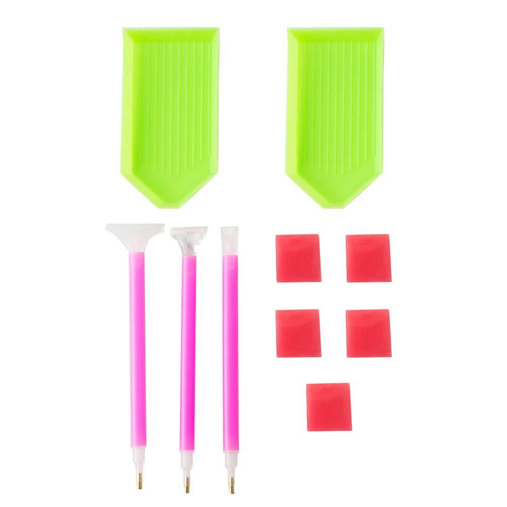 Academyus 10Pcs/Set Diamond Painting DIY Tool Kits Dual-Head Pens Plastic Tray Glue Mud by Academyus (Image #1)