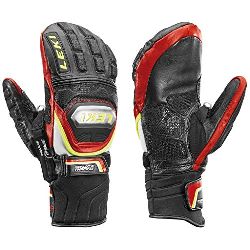 LEKI World Cup Race Ti S Mitt Black/Red/White/Yellow XL (10.5)