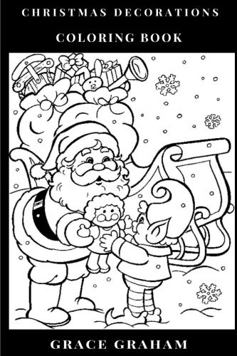 Christmas Decorations Coloring Book: Merry