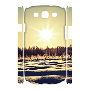 3D Samsung Galaxy S3 Cases Sunny Snowy Day, Samsung Galaxy S3 Cases Snow Pattern & Snow Texture, [White]