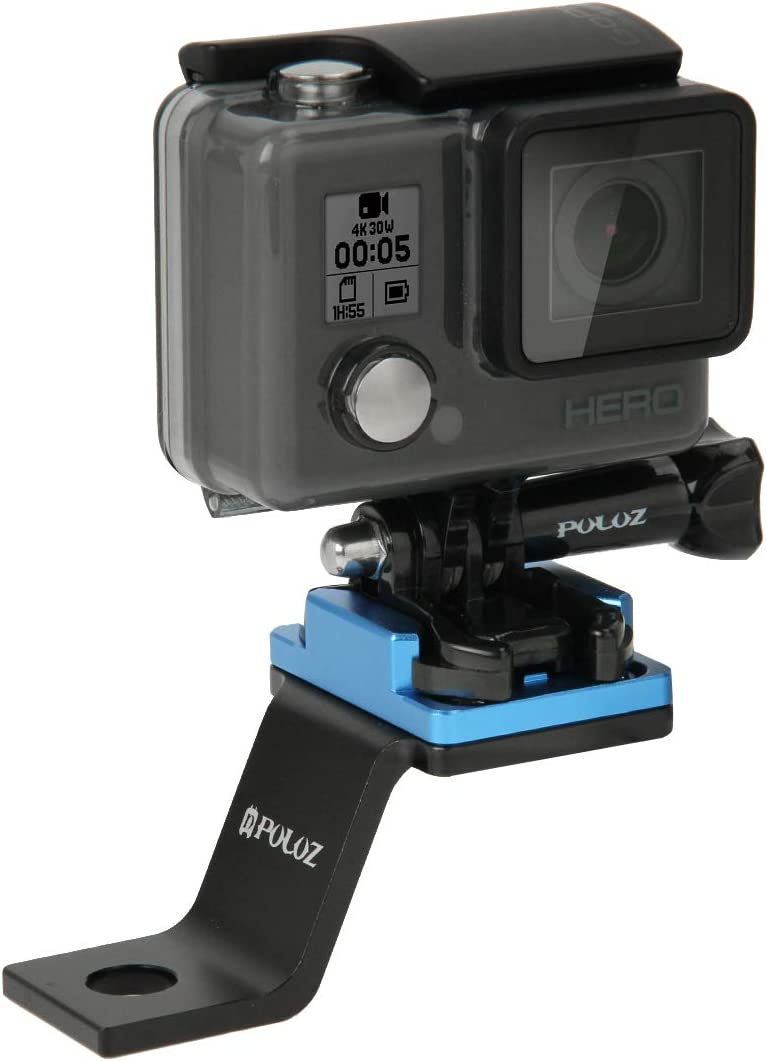 Xiaoyi and Other Action Cameras Black Tripod Mount Holder Adapter Fixed Metal Motorcycle Holder Mount for GoPro New Hero //HERO6 //5//5 Session //4 Session //4//3+ //3//2 //1 Color : Blue