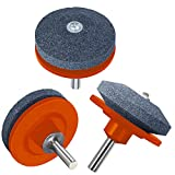 XRS Lawn Mower Blade Sharpener, Lawnmower Blade Sharpener Drill Attachment, Lawn Mower Sharpener for Power Drill Hand Grill, 3 Pack