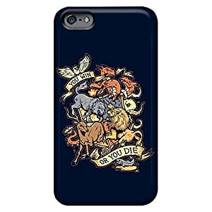 Compatible mobile phone carrying skins Awesome Phone Cases case iphone 4 /4s - game of thrones win or die