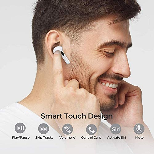 Wireless Earbuds Bluetooth Headphone 5.0 Headsets Pop-ups Auto Pairing in-Ear Earphone with Charging Case.