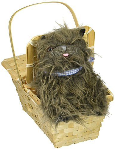 Deluxe Toto in Basket Costume Accessory (Child Deluxe Dorothy Ruby Slippers)