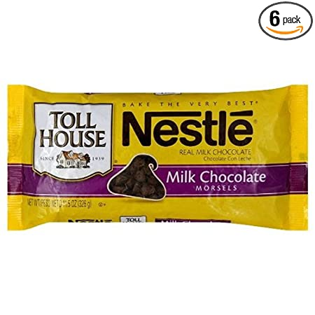 Nestle Toll House Milk Chocolate Morsels, 11.5 Ounce Packages (Pack