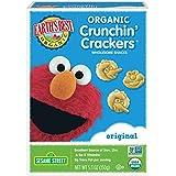 Earth's Best Organic Crunchin' Crackers, Toddler Snacks, Original Flavor, Sesame Street Characters, 5.3 Oz (Pack of 6)