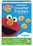Earth's Best Organic Crunchin' Crackers, Toddler Snacks, Original Flavor, Sesame Street Characters, 5.3 Oz (Pack of 6)