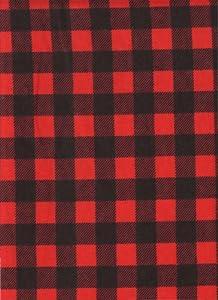 Amazon Com Red Buffalo Check Plaid Print Flannel Quilt