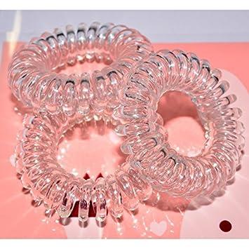 Amazon.com  Miya  Scrunchie in Crystal Clear Plastic Mini Elastic ... fee49469452